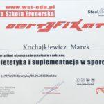 Certyfikat z dietetyki i suplementacji w sporcie